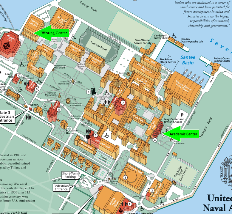Introduction The Class Of Center For Academic Excellence - Us naval academy campus map