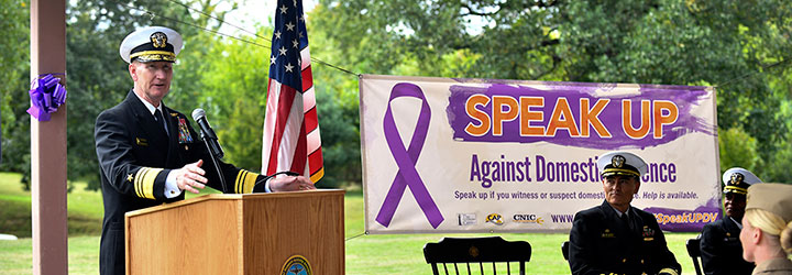 Image for USNA, NSA Annapolis Leadership Sign Domestic Violence Awareness Proclamation