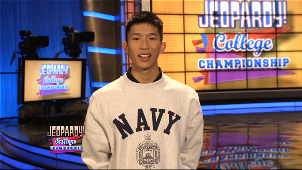 Image for #010-17 Naval Academy Midshipman to Compete in Jeopardy College Championship