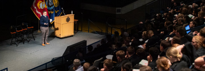 Image for Special Assistant to the President for Cyber Delivers Lecture at USNA
