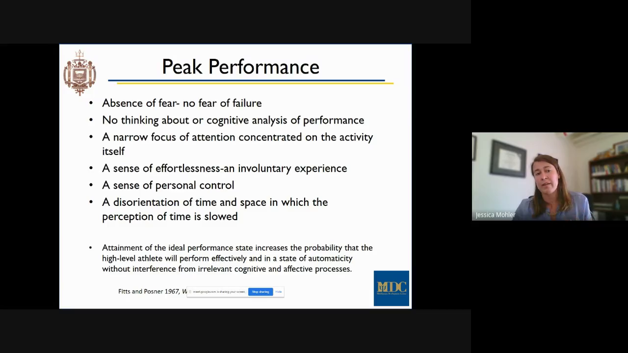 """Image for Dr. Jessica M. Mohler, """"Athletic and Military Performance - A Neurocognitive Perspective on Success."""""""