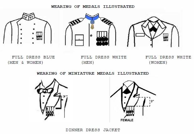 Ribbons And Medals :: Midshipmen Uniform Regulations :: USNA