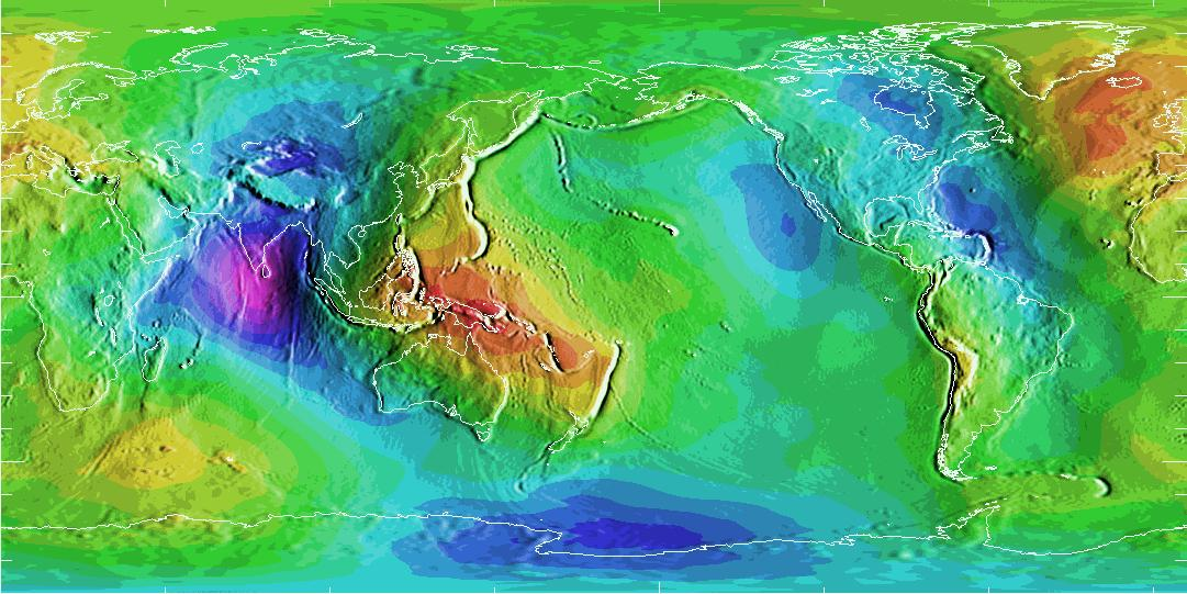 Earth Work In Elevation : Geoid map