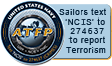 Anti-Terrorism Force Protection (ATFP) - Report crimes by text by texting NCIS to 274637 (CRIMES)